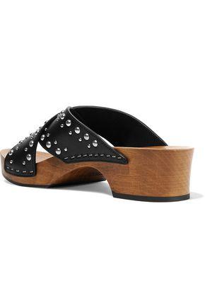 SAINT LAURENT Studded leather clogs