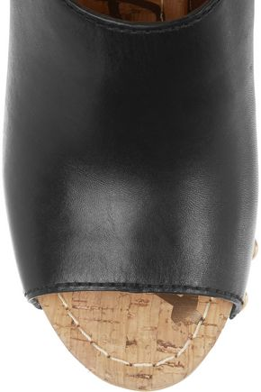 SAM EDELMAN Marley leather platform clogs