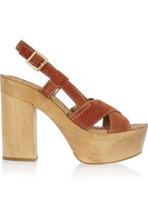 SAM EDELMAN Mae suede platform sandals