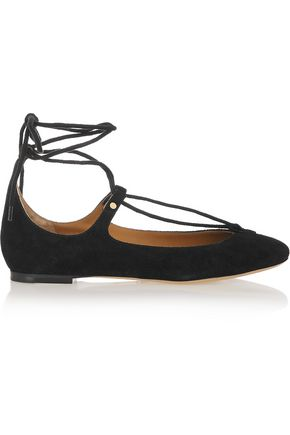 Lace Up Suede Ballet Flats by ChloÉ