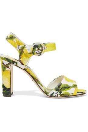 DOLCE & GABBANA Printed faille sandals