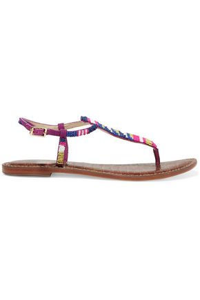 195cc56a3e5b SAM EDELMAN Gail beaded leather sandals ...