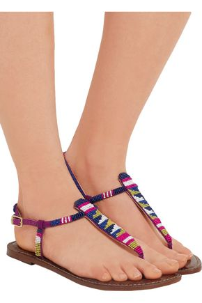 SAM EDELMAN Gail embellished canvas sandals