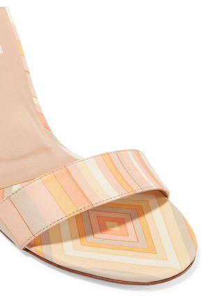VALENTINO GARAVANI Printed leather and Perspex sandals