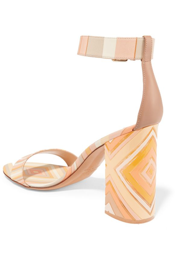 Printed leather and Perspex sandals   VALENTINO   Sale up to 70% off   THE  OUTNET