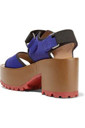 MARNI Neoprene and leather platform sandals