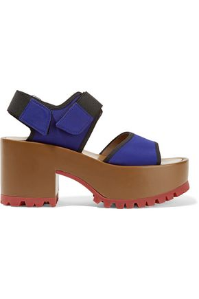 MARNI Neoprene and leather platform sandals