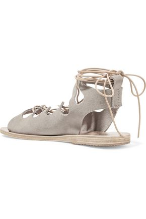 ANCIENT GREEK SANDALS Antigone lace-up suede sandals