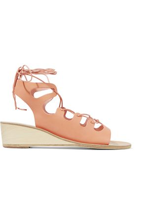 ANCIENT GREEK SANDALS Antigone lace-up leather wedge sandals