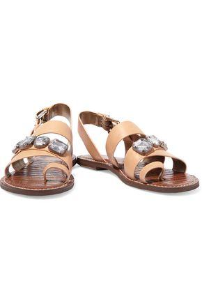 SAM EDELMAN Dailey embellished leather sandals