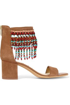 SAM EDELMAN Sibel embellished suede sandals