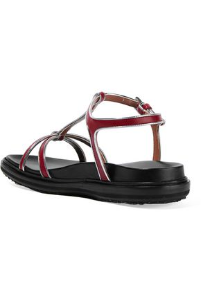 MARNI Metallic leather sandals