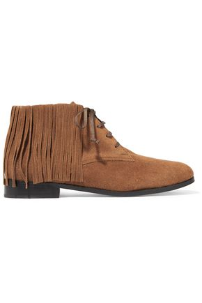 NEWBARK Jamie fringed suede ankle boots