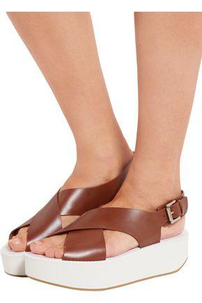 FLAMINGOS Malabar leather slingback sandals