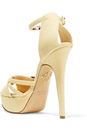 CHARLOTTE OLYMPIA Iola linen platform sandals