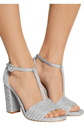 CHARLOTTE OLYMPIA Jane metallic raffia sandals