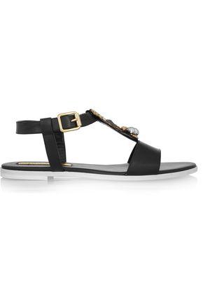 RUPERT SANDERSON Cara embellished leather sandals