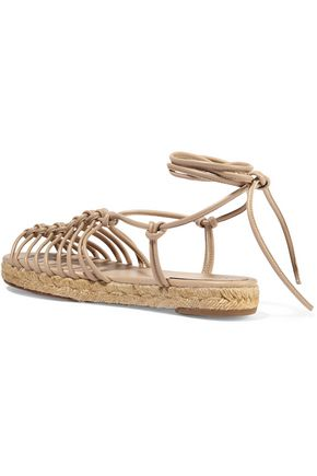 CHLOÉ Knotted leather espadrille sandals