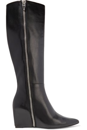 ALEXANDER WANG Lea leather wedge boots