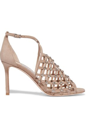 JIMMY CHOO LONDON Donnie crystal-embellished suede sandals