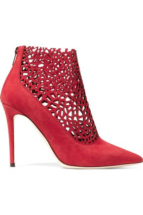 JIMMY CHOO Maurice laser-cut suede boots