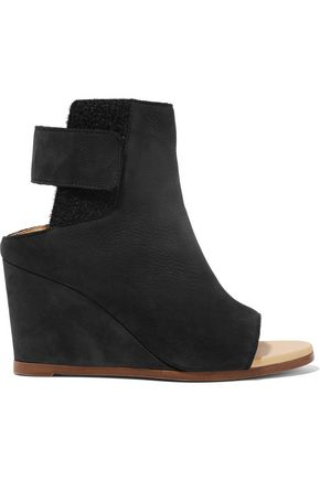 MM6 by MAISON MARGIELA Leather wedge ankle boots