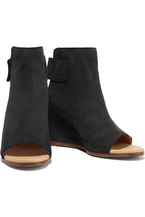 MM6 MAISON MARGIELA Leather wedge ankle boots