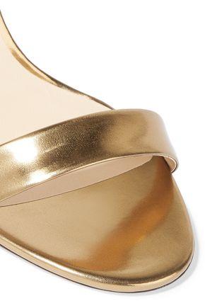 JIMMY CHOO LONDON Truce metallic leather sandals