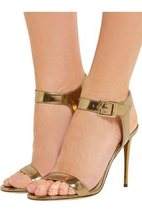 JIMMY CHOO Truce metallic leather sandals