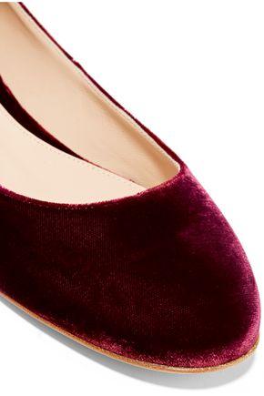GIANVITO ROSSI Velvet ballet flats