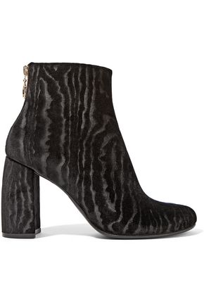 STELLA McCARTNEY Flocked velvet ankle boots