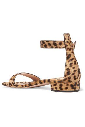 GIANVITO ROSSI Leopard-print calf hair sandals