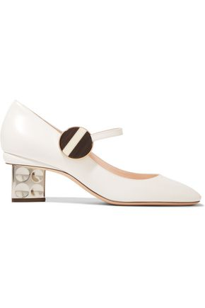 NICHOLAS KIRKWOOD Ciara glossed-leather Mary Jane pumps