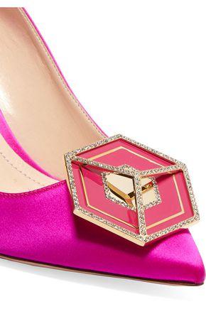 NICHOLAS KIRKWOOD Eden Jewel crystal-embellished satin pumps