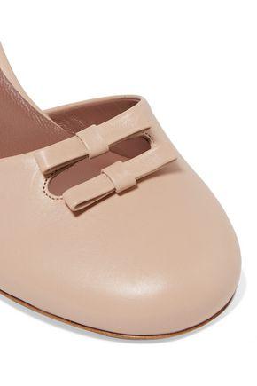 TABITHA SIMMONS Amelia bow-embellished leather pumps