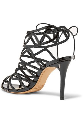 ALEXANDRE BIRMAN Nim cutout patent-leather sandals