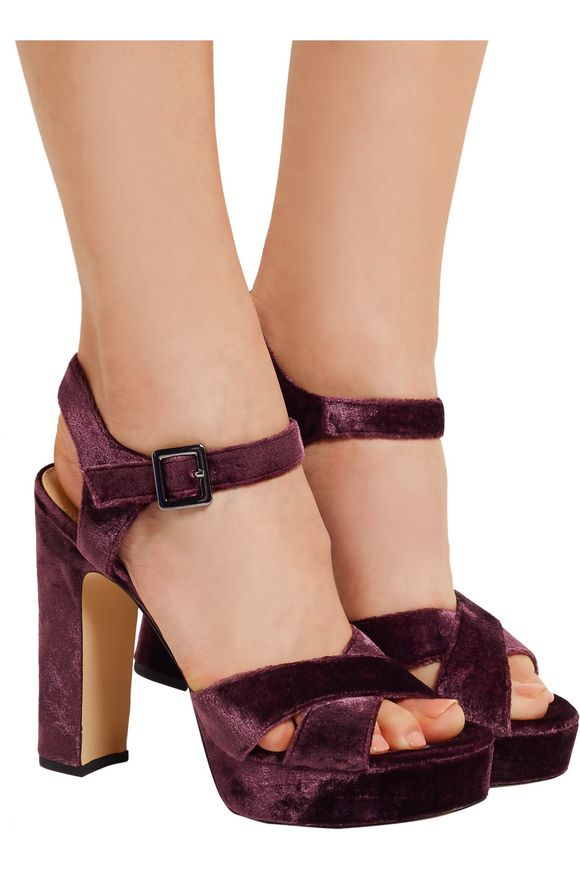 Arlene velvet platform sandals | SAM EDELMAN | Sale up to 70% off | THE  OUTNET