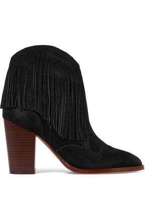 SAM EDELMAN Benjie fringed suede ankle boots