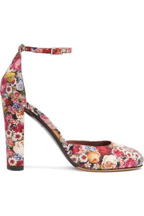 TABITHA SIMMONS Petra floral-print leather pumps