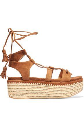STUART WEITZMAN Romanesque suede platform sandals