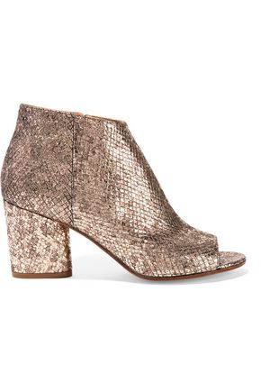 MAISON MARGIELA Metallic snake-effect leather ankle boots