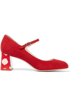 SOPHIA WEBSTER Renee suede Mary Jane pumps