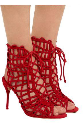 SOPHIA WEBSTER Delphine suede sandals