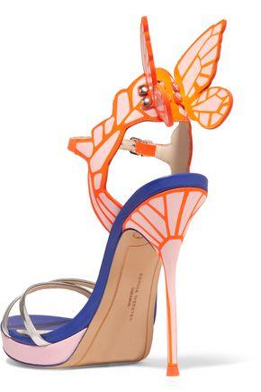 105829d58f17 ... SOPHIA WEBSTER Chiara metallic patent-leather platform sandals