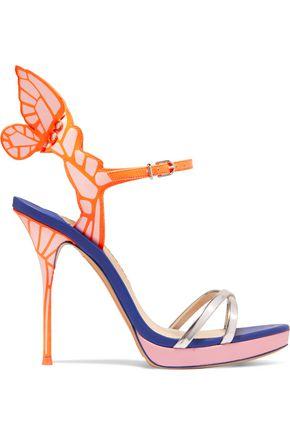 e4bc84dc397a SOPHIA WEBSTER Chiara metallic patent-leather platform sandals ...