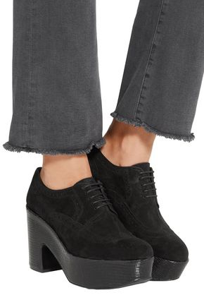 ROBERT CLERGERIE Glossed-leather platform brogues