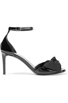 SAINT LAURENT Jane bow-embellished patent-leather sandals