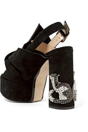 N° 21 Embellished suede platform sandals