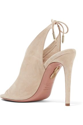 AQUAZZURA Ami suede sandals