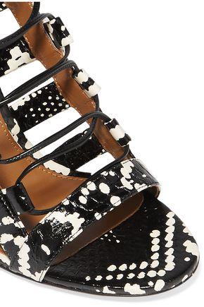 AQUAZZURA Amazon lace-up elaphe sandals